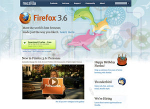 Firefox 3.6, Mozilla.com and You